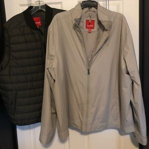 Izod all weather jacket with quilted zip out vest